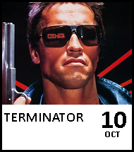Booking link for The Terminator on 10 October 2020