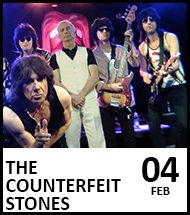 Booking link for The Counterfeit Stones on 4th February 2022