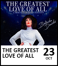 Booking link for The Greatest Love Of All on 23 October 2021