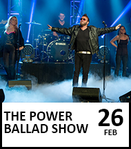 Booking link for The Power Ballad Show on 26 February 2022