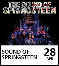 Booking link for The Sound of Springsteen on 28 April 2022