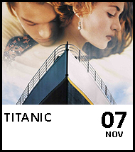 Booking link for Titanic on 7 November 2020
