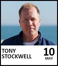 Booking link for Tony Stockwell on 10 May 2022