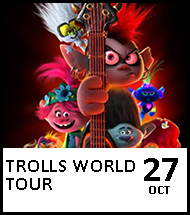 Booking link for Trolls World Tour on 27 October 2020