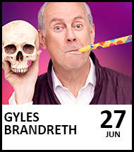 Booking link for Gyles Brandreth on 27 June