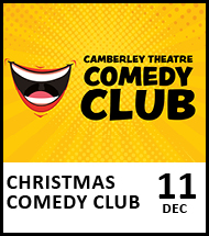 Booking link for Christmas Comedy Club on 11 December 2020