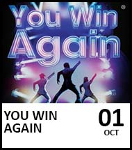 Booking link for You Win Again on 1st October 2021