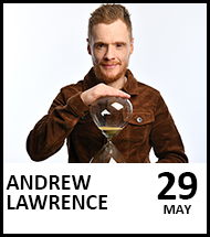 Booking link for Andrew Lawrence on 29 May 2021