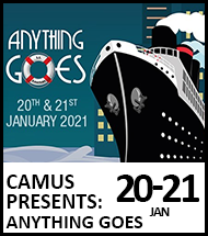 Booking link for CAMUS presents: Anything Goes
