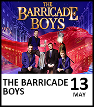 Booking link for The Barricade Boys on 13 May 2021