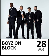 Booking link for  Boyz on Block on 28th August 2021