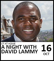 Booking link for CT at Home: A night with David Lammy on 16th October