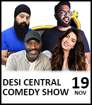 Booking link for Desi Central Comedy Show on 19 November 2021