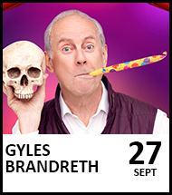Booking link for Gyles Brandreth on 27 September 2021