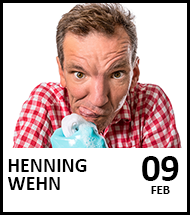 Booking link for Henning Wehn on 9 February 2022.