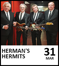 Booking link for Herman's Hermits on 31 March 2022