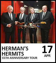 Booking link for Hermans Hermits on 17 April 2021