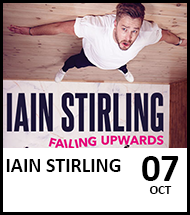 Booking link for Iain Stirling on 7th October 2021