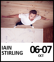 Booking link for Iain Stirling on 6th and 7th October 2021