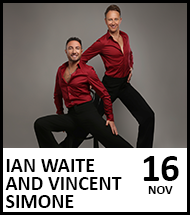 Booking link for Ian Waite and Vincent Simone on 16th November 2021