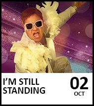 Booking link for I'm Still Standing – The Music of Elton John on 2 October 2021