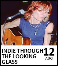 Booking link for Indie Through The Looking Glass on 12 August 2020