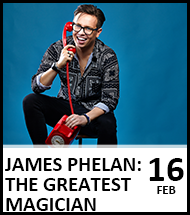 Booking link for James Phelan: The Greatest Magician on 16 February 2022