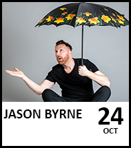 Booking link for Jason Byrne on 24 October 2021