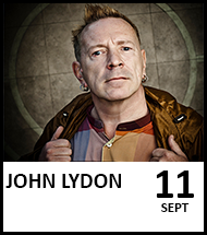 Booking link for John Lydon on 11 September 2021