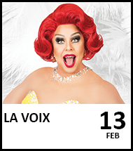 Booking link for La Voix on 13 February 2021