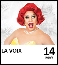 Booking link for La Voix on 14 May 2021