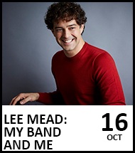 Booking link for Lee Mead on 16 October 2021