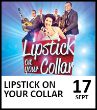 Booking link for Lipstick On Your Collar on 17 September 2021