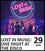 Booking link for Lost in Music on 29 April 2022