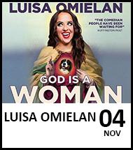 Booking link for Luisa Omielan on 4 November 2021