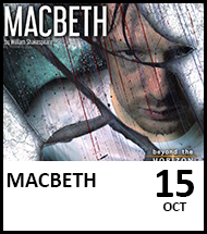 Booking link for Macbeth on 15 October 2021