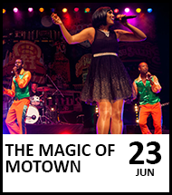 Booking link for The Magic of Motown on 23 June 2022