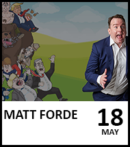 Booking link for Matt Forde on 18th May 2021