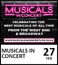 Booking link for Musicals in Concert on 27th February 2021