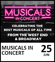 Booking link for Musicals in Concert on 25th June 2021