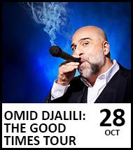 Booking link for Omid Djalili on 28 October 2021