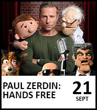 Bookng link for Paul Zerdin on 21 September 2021