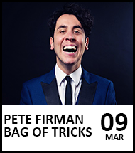 Booking link for Pete Fireman on 9 March 2021