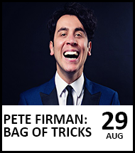Booking link for Pete Fireman on 29 August 2021