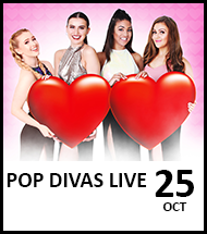 Booking link for Pop Divas Live on 25 October 2021