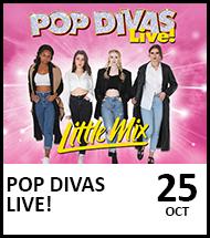 Booking link for Pop Divas Live on 25 October 2021