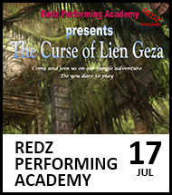 Booking link for Redz Performing Academy: The Curse of Lien Gez on 17 July 2021