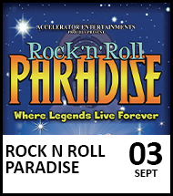 Booking link for Rock n Roll Paradise on 3 September 2021