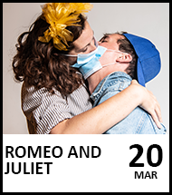 Booking link for Romea and Juliet on 20th March 2021