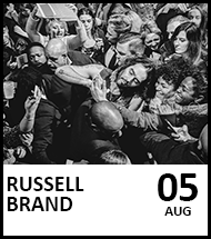 Booking link for Russell Brand on 5th August 2021